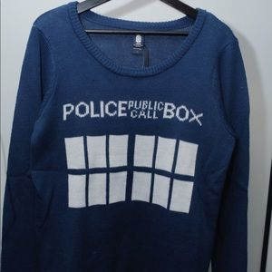 NWT Doctor Who Blue Sweater